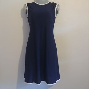 Nik and Nash Navy Blue Shirt Dress Sz Small